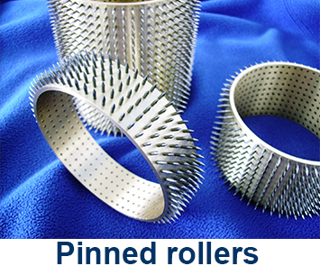 Pinned rollers